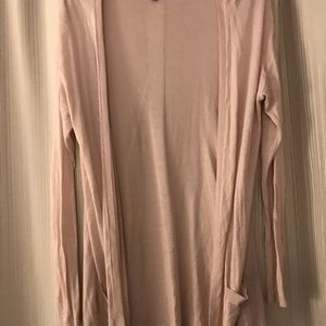 Long pink sheer cardigan